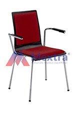 Krzesło konferencyjne CAFE VII CHROME Z PODŁOKIETNIKIEM