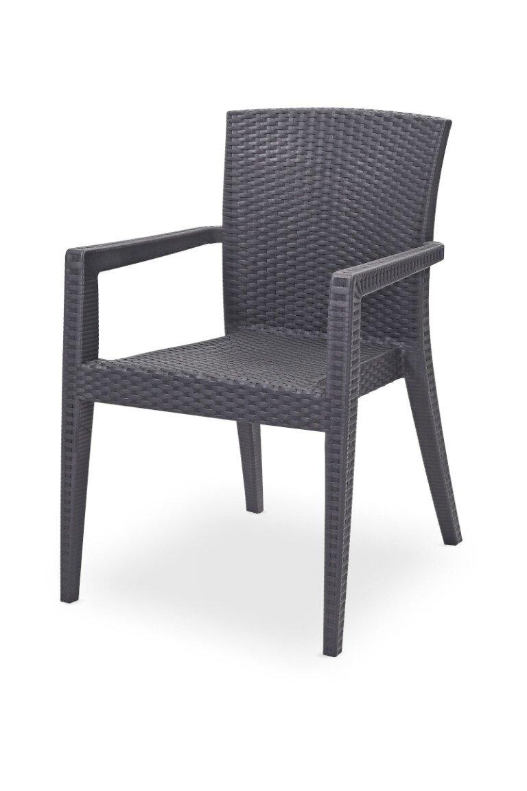 Krzesła do ogródków piwnych MARIO antracyt