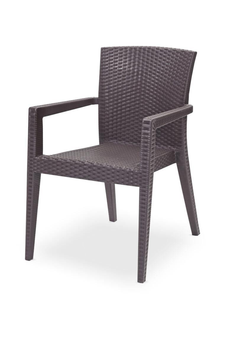 Krzesła do ogródków piwnych MARIO brązowe