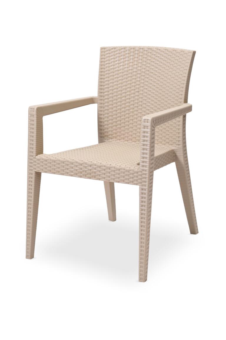 Krzesła do ogródków piwnych MARIO cappuccino