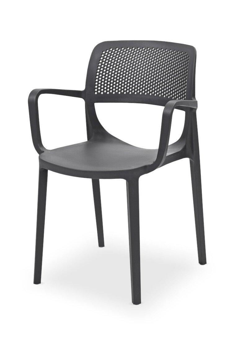 Krzesła do ogródków piwnych NICOLA antracytowe