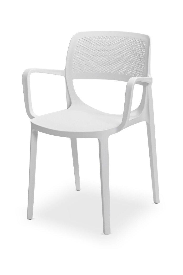 Krzesła do ogródków piwnych NICOLA białe